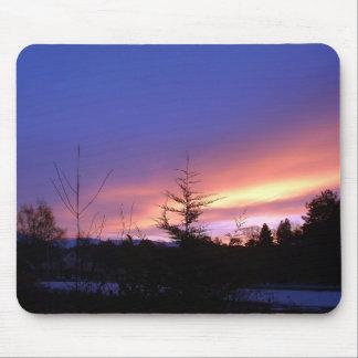 Winter Sunset Strathspey Scotland Mouse Mat