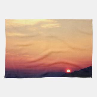 Winter Sunset Tea Towel