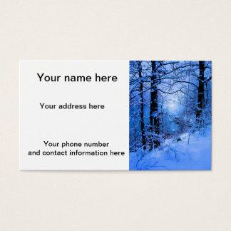 Winter Sunspot Across Lake Business Card