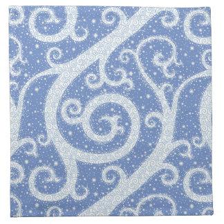 Winter Swirl Pattern Napkin