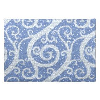 Winter Swirl Pattern Placemat