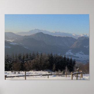 Winter Tatras view from Beskid Sądecki Poster