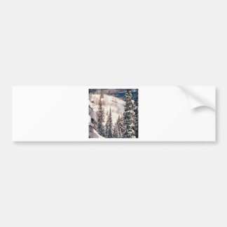 Winter The Calm Before The Storm Brighton Utah Bumper Sticker