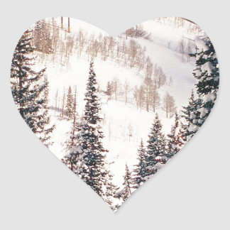 Winter The Calm Before The Storm Brighton Utah Heart Sticker