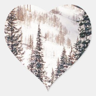 Winter The Calm Before The Storm Brighton Utah Heart Sticker