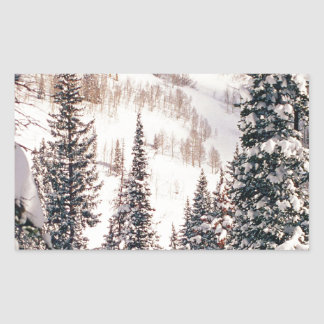 Winter The Calm Before The Storm Brighton Utah Rectangular Sticker
