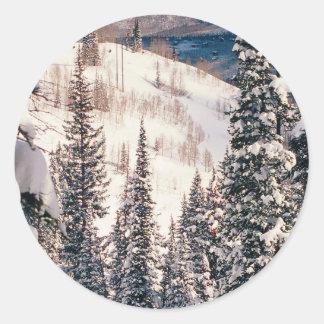 Winter The Calm Before The Storm Brighton Utah Round Sticker
