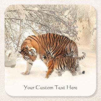 Winter Tigers custom coasters
