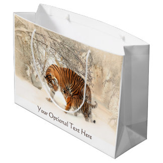 Winter Tigers custom gift bag