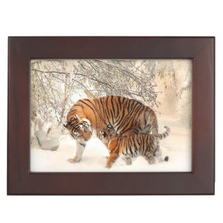 Winter Tigers custom keepsake box