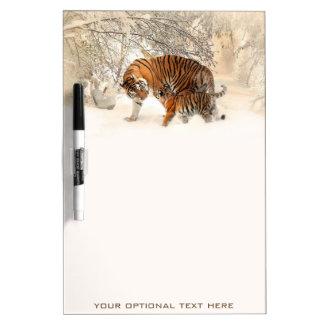 Winter Tigers custom message board