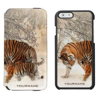Winter Tigers custom monogram case wallets Incipio Watson™ iPhone 6 Wallet Case