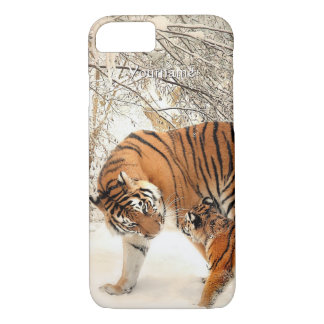 Winter Tigers custom monogram cases