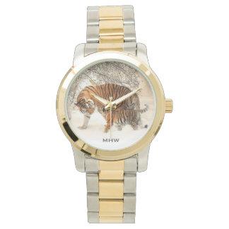 Winter Tigers custom monogram watches