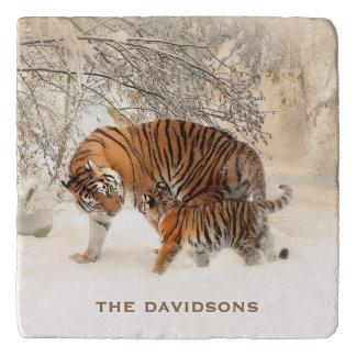 Winter Tigers custom name trivets