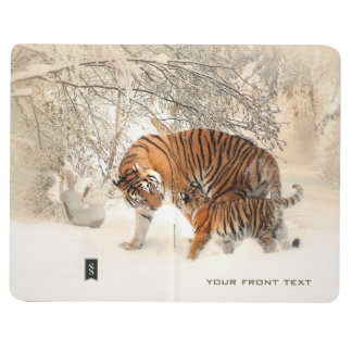 Winter Tigers custom pocket journal