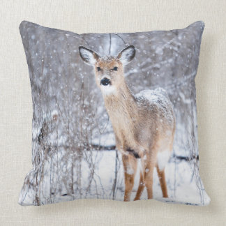 Winter Time Deer Pillow