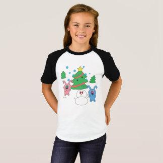 Winter Time Rollys Girls Raglan T-Shirt