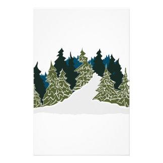 Winter Trail Scene Stationery