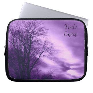 Winter Tree and Sky in Purple Laptop Sleeve