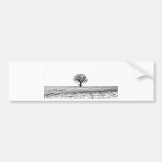 Winter tree bumper sticker