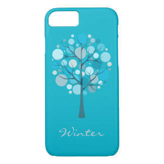 Winter Tree illustration Barely iPhone 7 Cases