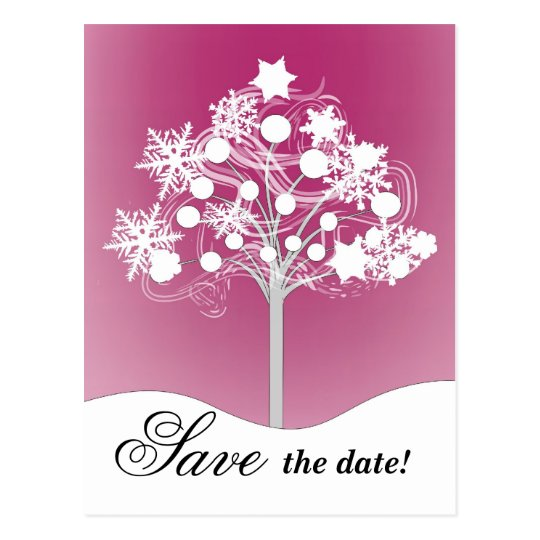 WInter Tree Save the Date Postcard