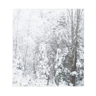 Winter Tree Scene Notepad