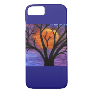 Winter Tree Silhouette at Sunset Artistically Pain iPhone 7 Case