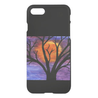 Winter Tree Silhouette at Sunset iPhone 7 Case