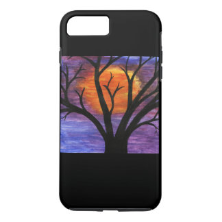 Winter Tree Silhouette at Sunset iPhone 7 Plus Case