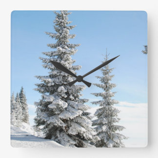 Winter Tree Snow Scene Wall Clock