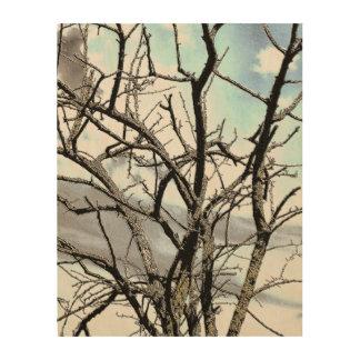 WINTER TREE WOOD WALL ART