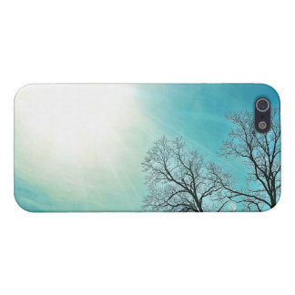 Winter Trees & A Cold Sun Seasonal Nature Art Case For The iPhone 5
