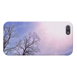 Winter Trees & A Cold Sun Seasonal Nature Art iPhone 5 Cover