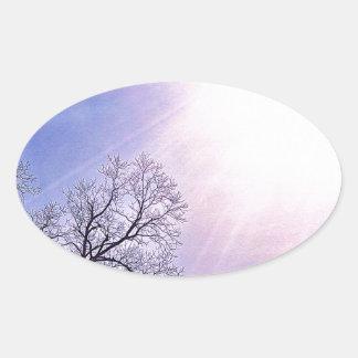 Winter Trees & A Cold Sun Seasonal Nature Art Stickers