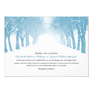 Winter Trees Avenue Horizontal Wedding Invite