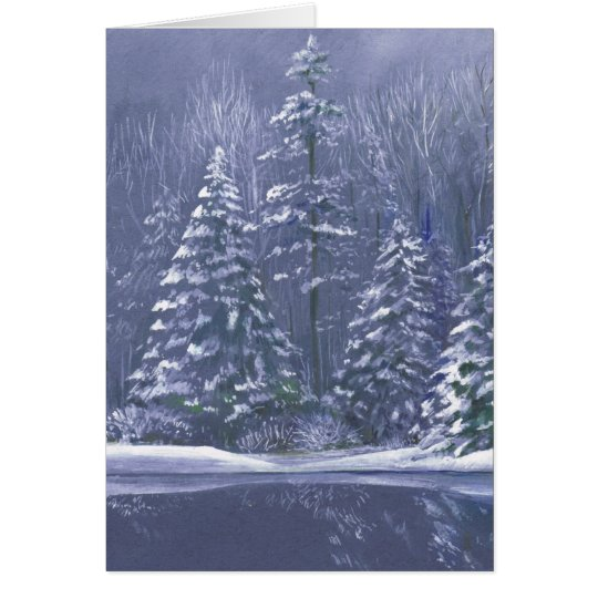 """Winter trees"" Christmas fine art seasonal card"