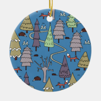 winter trees christmas ornament