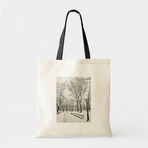 Winter Trees Covered in Snow Tote Bag