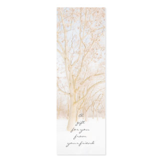 Winter Trees Gift Tags Pack Of Skinny Business Cards