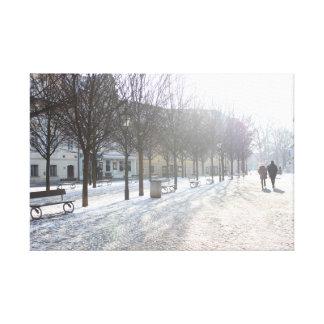 Winter Tree's in Prague (czech republic) Canvas Print