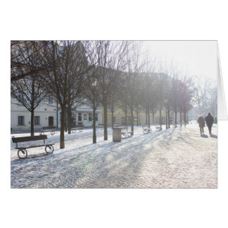 Winter Tree's in Prague (czech republic) Card