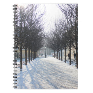 Winter Tree's in Prague (czech republic) Spiral Notebook