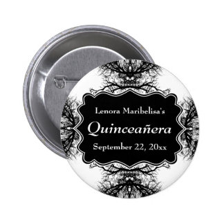 Winter Trees Pattern Quinceanera Pinback Button