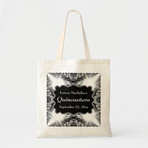 Winter Trees Pattern Quinceanera Canvas Bag
