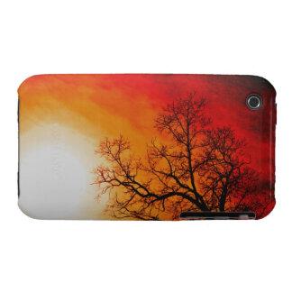Winter Trees & Setting Sun Branches Nature Scene iPhone 3 Case