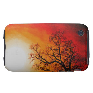 Winter Trees & Setting Sun Branches Nature Scene iPhone 3 Tough Case
