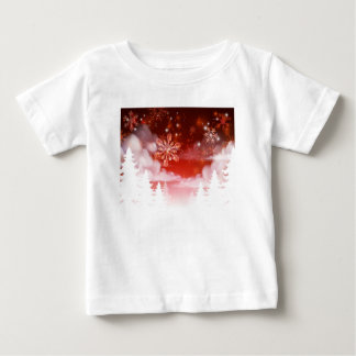 Winter Trees Snowscape Christmas Scene Baby T-Shirt