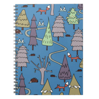 winter trees spiral note books